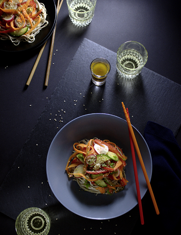 Refreshing Soba Salad-foodforfreude